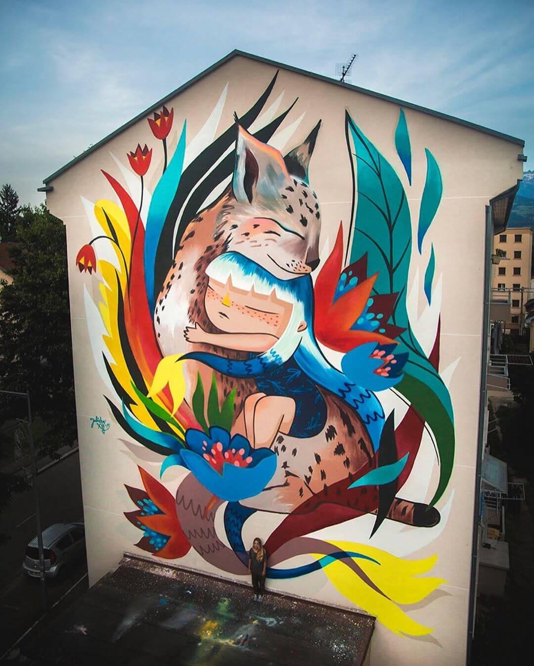 Julieta XLF | Mural | Street Art Fest Grenoble, France | 2019